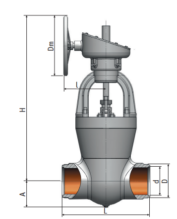 Gate valve on a high pressure 880-200-кз Picture