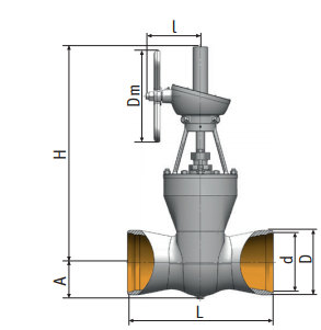 Gate valve 2c-27-4н on medium parameters Picture