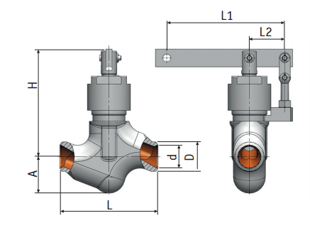Regulating needle valve with lever actuation 9с-5-5-2 picture