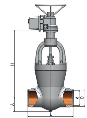Gate valve on a high pressure 885-225-э Picture