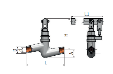Regulating needle valve with lever actuation 9с-4-1-1 picture