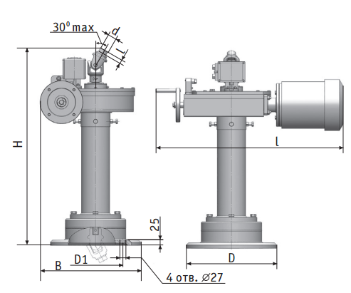 Pedestal actuator амк-еа-ku-80 for pipeline valve picture