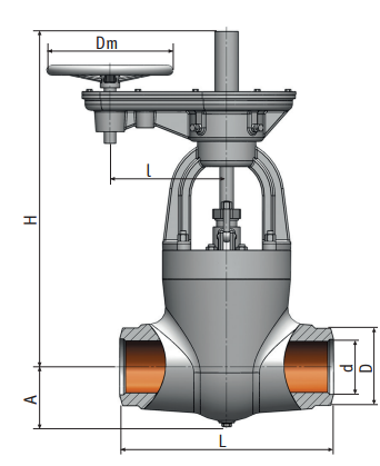 Gate valve on a high pressure 887-150-цз Picture