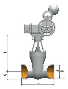 Gate valve 1511-200-э on medium parameters Picture